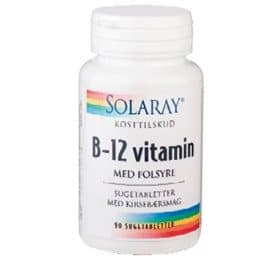 Solaray B12-vitaminer som sugetablet